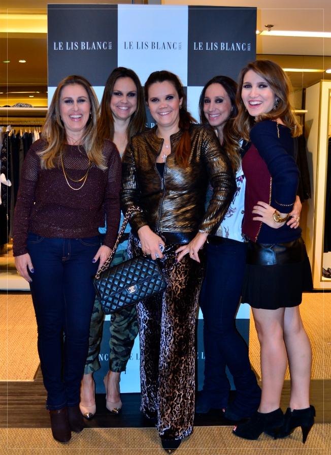 Maria Fernanda, Giovana, Giuliana, Camila e Flá
